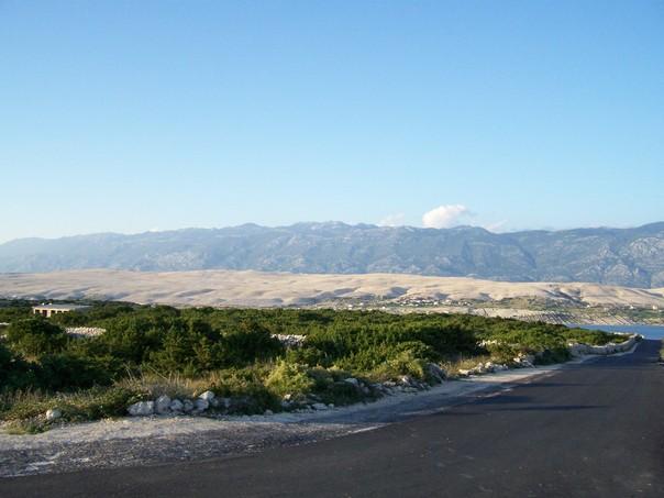 Blick über Insel Pag