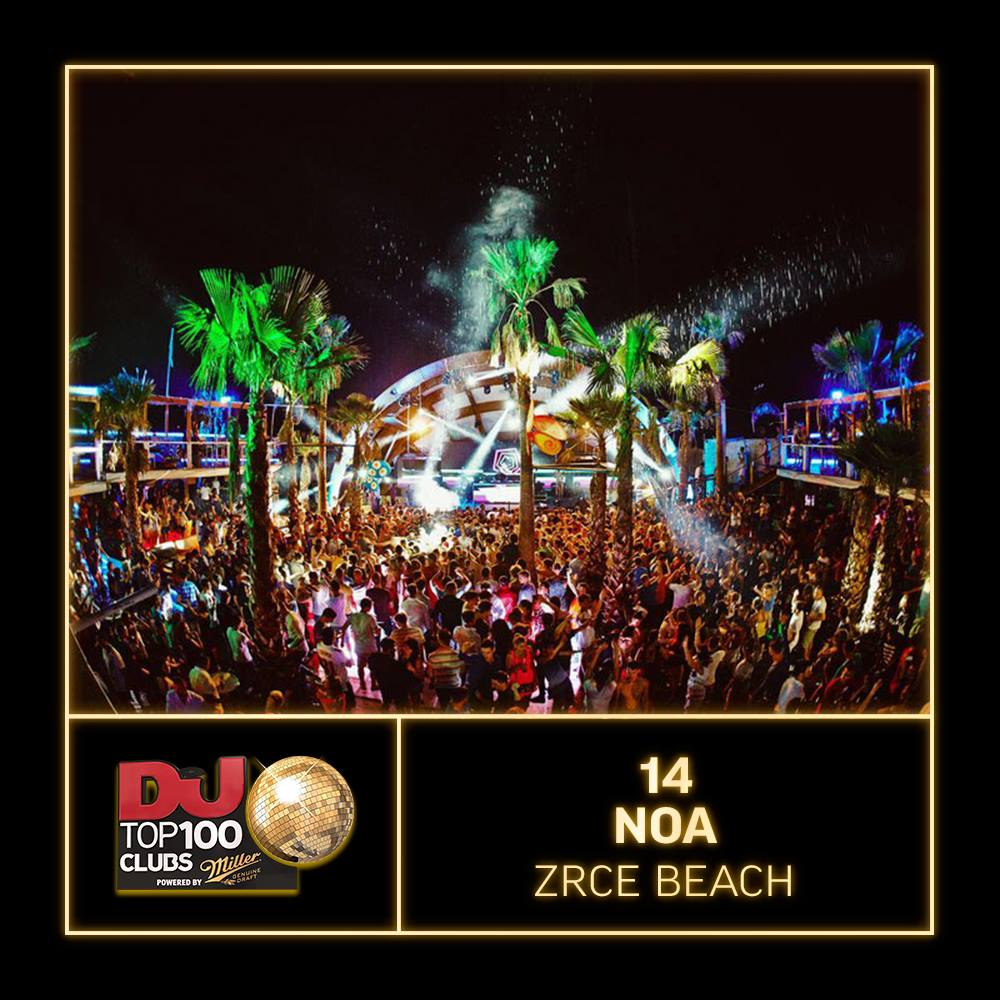 Noa Zrce Top 14 Club DJ MAG