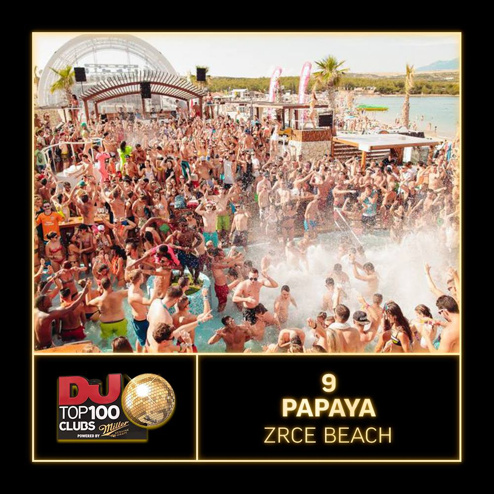 Papaya Zrce Top 9 Club DJ Mag