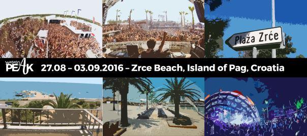 summer peak banner 2016 zrce island of pag croatia