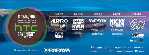 Flyer und Bild PAPAYA DAY & NIGHT FESTIVAL 2014