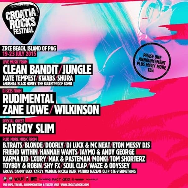 Lineup - Croatia Rocks Festival