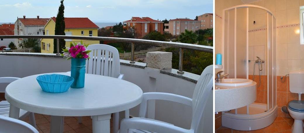 Balkon und Badezimmer Apartmenthaus Dreamy