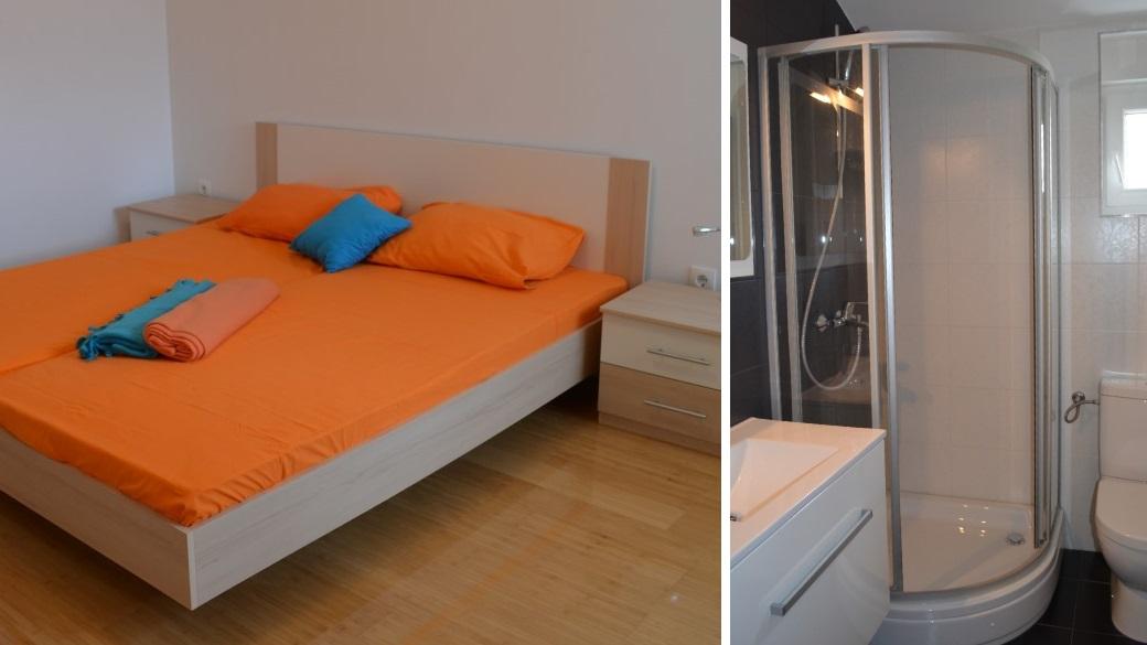 Schlaf und Badezimmer Novalja Apartment Lucky