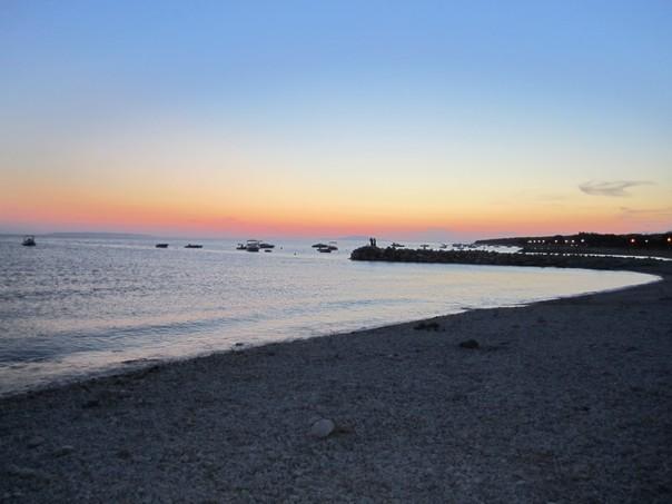 Strand bei Caska abends