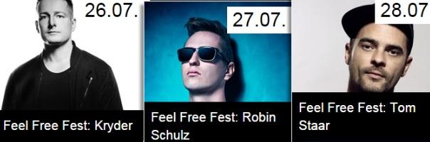 Flyer und Bild Feel Free Fest 2015