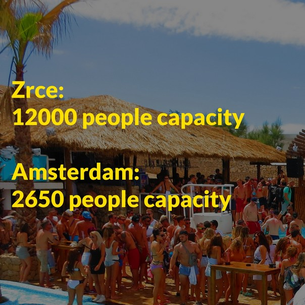 Amsterdam compared to Zrce Beach