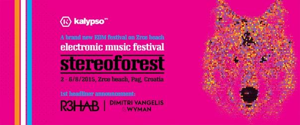 Flyer und Bild Stereo forest festival