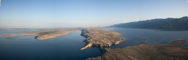 Insel Pag aus der Luft