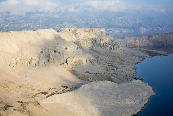 Insel Pag karge Landschaft