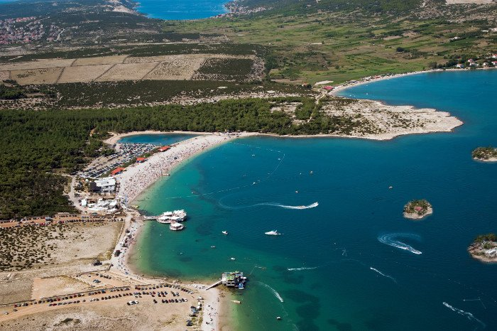 Zrce beach fake island