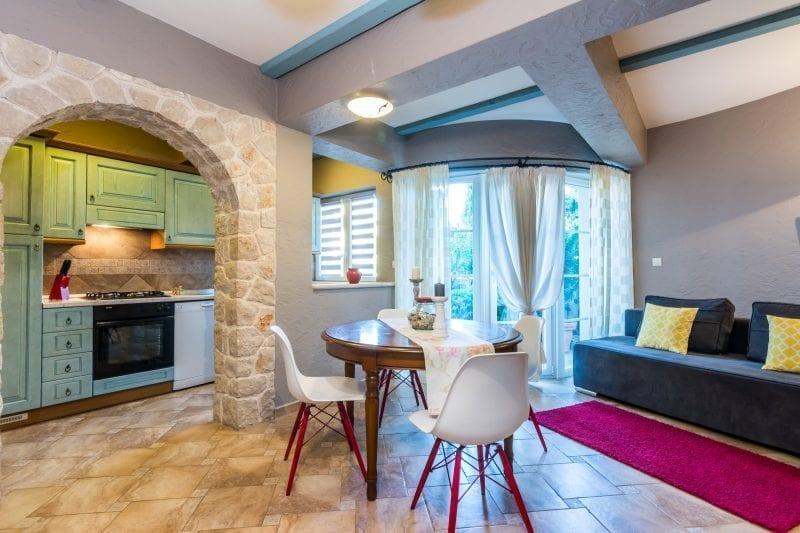 4+1 Personen Apartment Skoda Wohnbereich + Küche