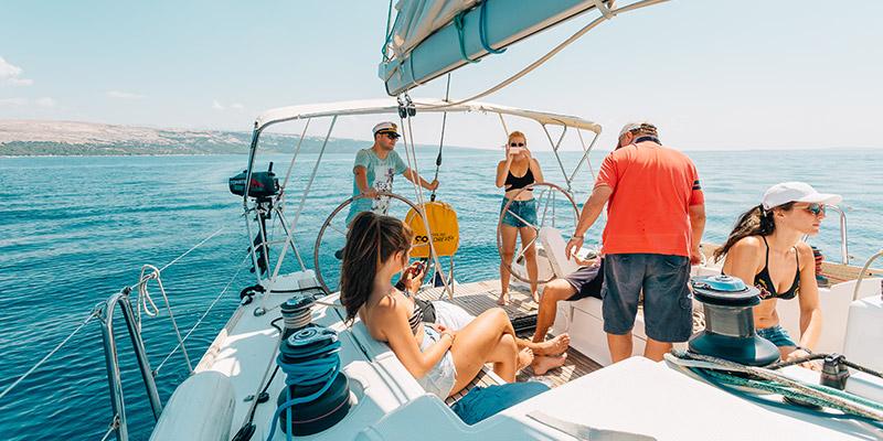 Segelboot Ausflug